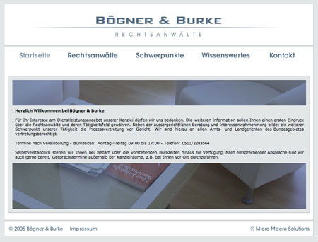 Screenshot Bögner&Burke
